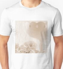 White Geraniums And Pedestal Dish Unisex T-Shirt