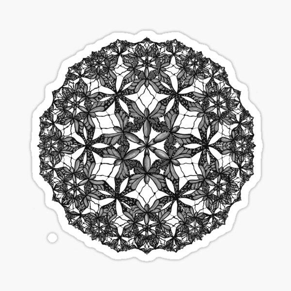 Butterflies (greyscale) Sticker