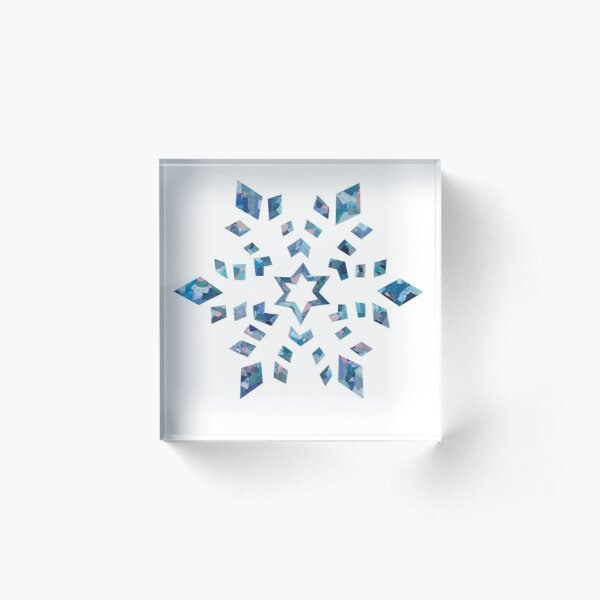 Blue Snowflake - Christmas Collection Acrylic Block