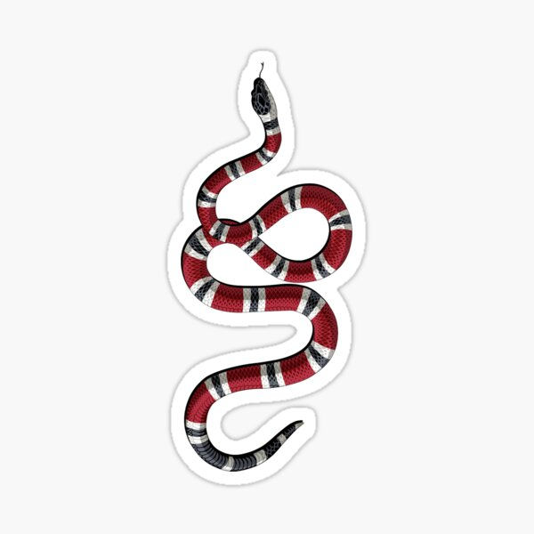 Green and Red Snake Sticker