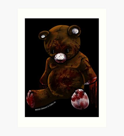 My Friend Teddy Art Print
