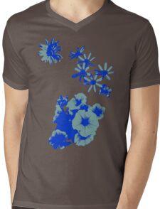 Blue Wildflowers Mens V-Neck T-Shirt