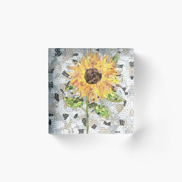 Sunflower - Flower Collection Acrylic Block