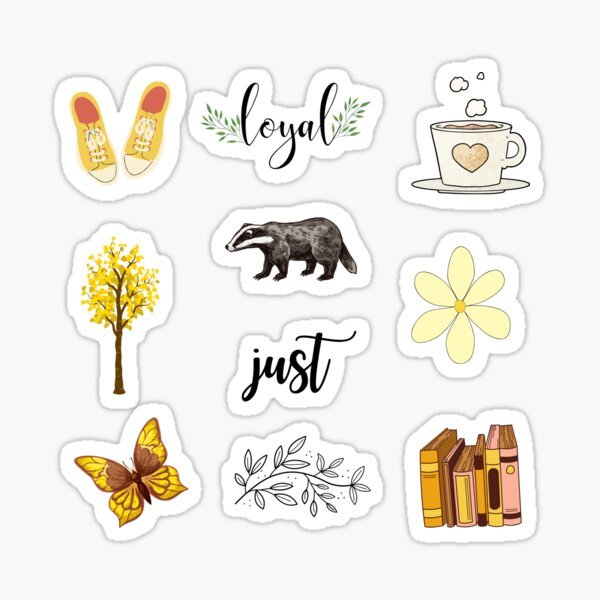 Loyal and Just Badger Yellow Sticker Pack Sticker