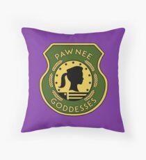 Pawnee Goddess - Parks & Recreation Throw Pillow