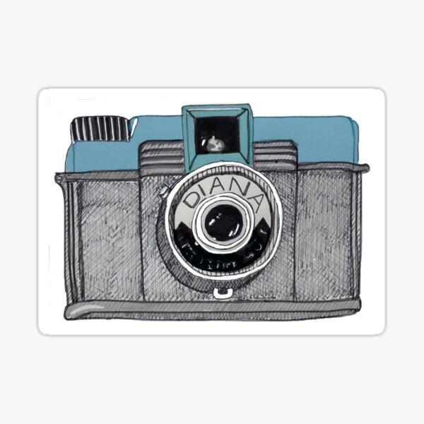 Vintage Diana Sketchy Camera Sticker