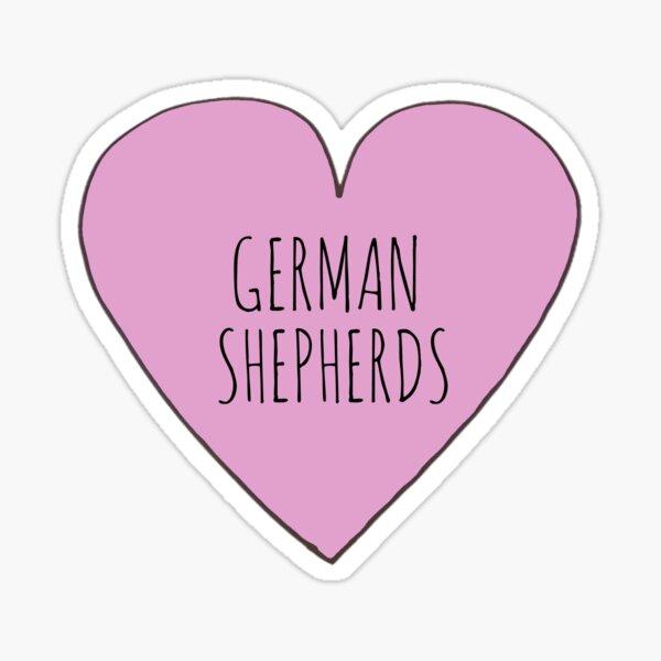 GERMAN SHEPHERD LOVE Sticker