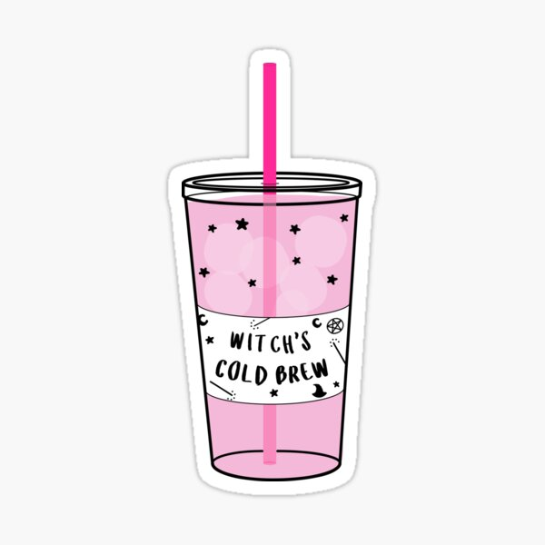Witchy Cold Brew Coffee ☽ Trendy/Hipster/Tumblr Meme Sticker