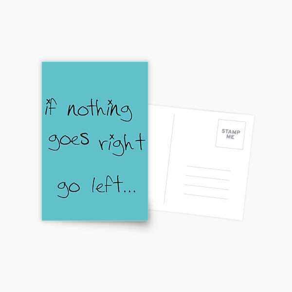 go left... Postcard
