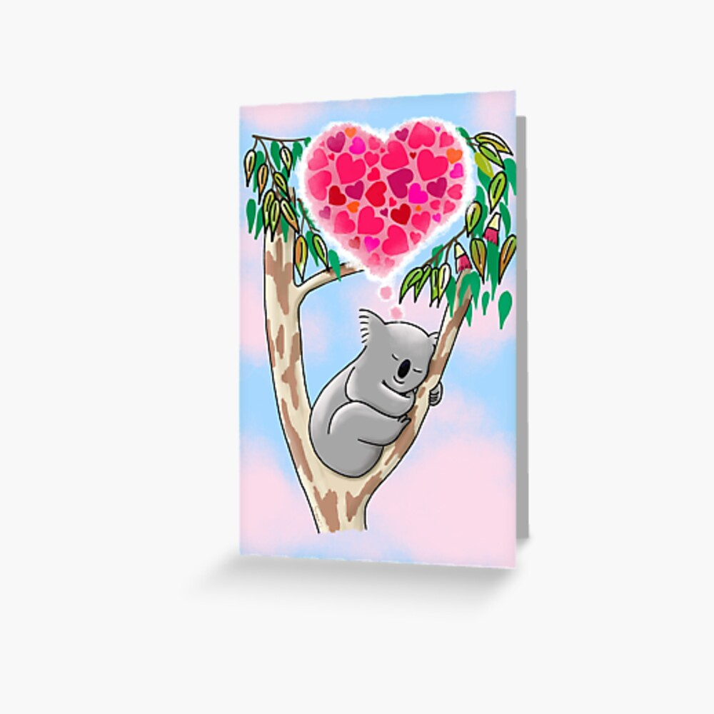Koala in love Greeting Card