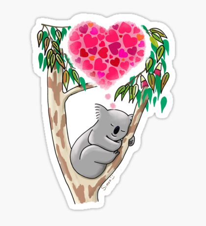 Koala in love Sticker