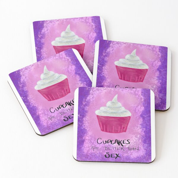 Asexual Cupcake Coasters (Set of 4)