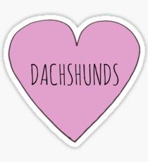 SAUSAGE DOG / DACHSHUND LOVE Sticker