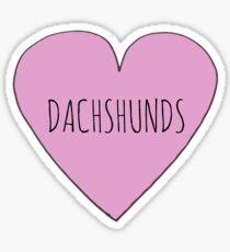 SAUSAGE DOG / DACHSHUND LOVE Sticker