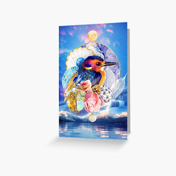 Festive Feathers: African Pygmy Kingfisher Greeting Card