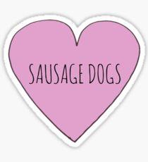 SAUSAGE DOG LOVE Sticker