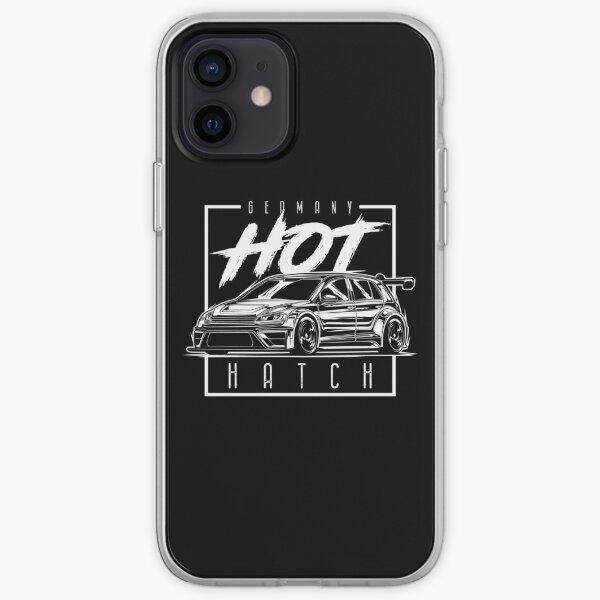 Hot Hatch Golf R Mk7 (impresión en blanco) Funda blanda para iPhone