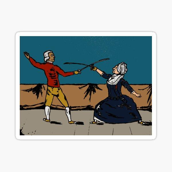 Chevalier de Saint-Georges vs Chevalier D'Eon: Choose Your Fighter Sticker