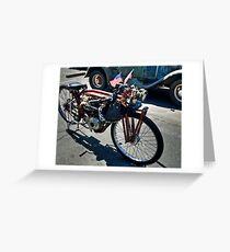 1910 Motorcycle Greeting Card