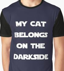 MY CAT BELONGS ON THE DARKSIDE Graphic T-Shirt