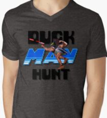 Duckman Hunt 8 Bit Retro Mens V-Neck T-Shirt