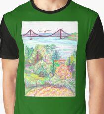 Golden Gate - Berkeley Tilden View Graphic T-Shirt