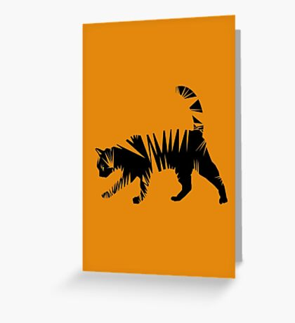 Jaggy Tiger Greeting Card
