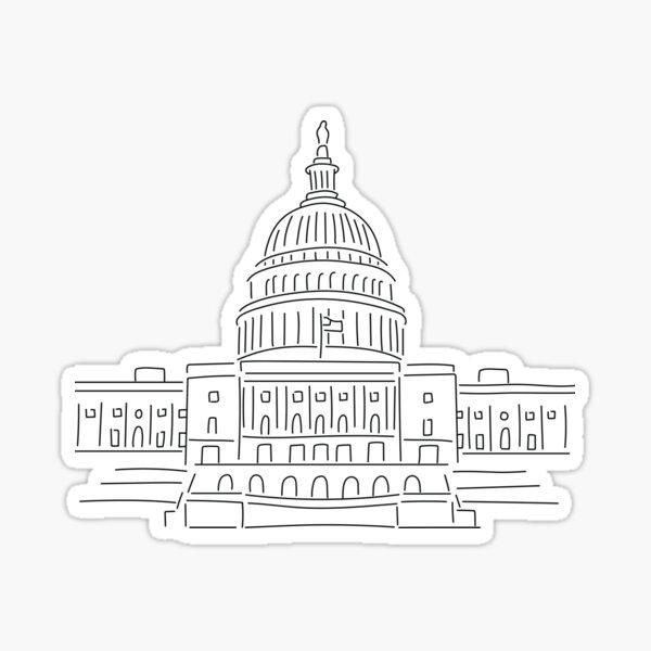 U.S. Capitol Lineart Sticker