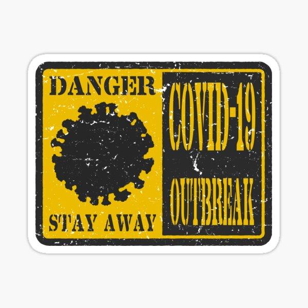 Covid 19 outbreak  Sticker