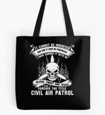 Always Vigilant Air Force  America Auxiliary of the United States Air  Tote Bag