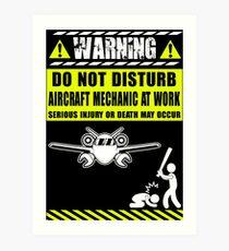 aircraft mechanics Mechanic Sayings T Shirts aircraft mechanic tools R Art Print