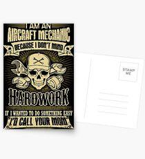 aircraft mechanic car mechanic t shirts auto mechanic t shirts Postcards