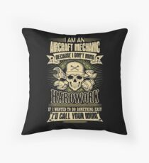 aircraft mechanic car mechanic t shirts auto mechanic t shirts Throw Pillow