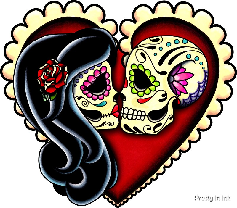 """Ashes - Day of the Dead Couple - Sugar Skull Lovers ..."