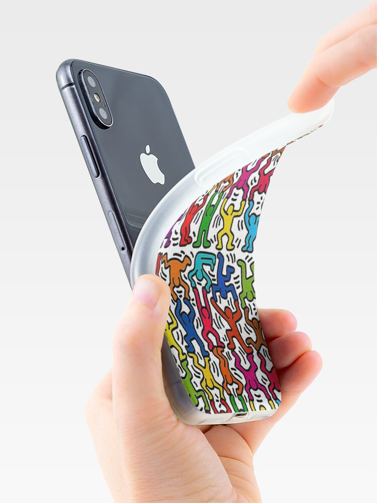 Alternate view of Keith Haring Stick Figure Acrobats iPhone Case & Cover