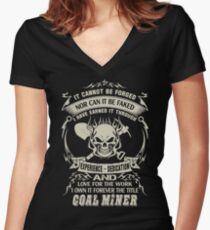coal miners  coal miner daughter coal miner girlfriend coal miner wife Women's Fitted V-Neck T-Shirt
