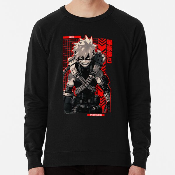 Bakugo = MY HERO ACADEMIA = Anime Star Edition -Red-  Lightweight Sweatshirt