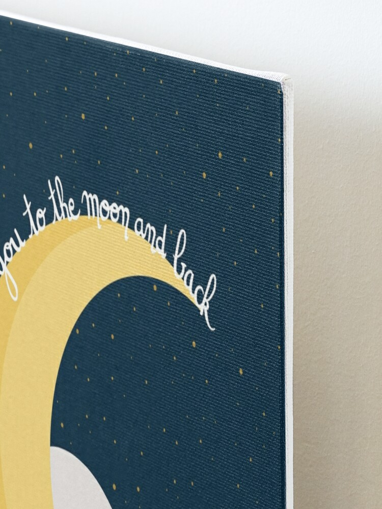 """Impression montée ''Ours Lune """"Love you to the moon and back""""': autre vue"""