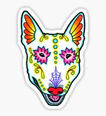 Bull Terrier - Day of the Dead Sugar Skull Dog Sticker