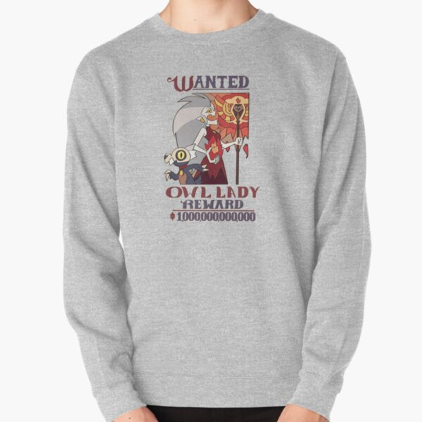 Wanted Owl Lady (The owl house) Pullover Sweatshirt