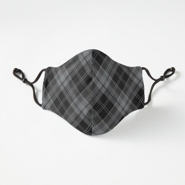 Gray Black Plaid Check Tartan Pattern Fitted 3-Layer