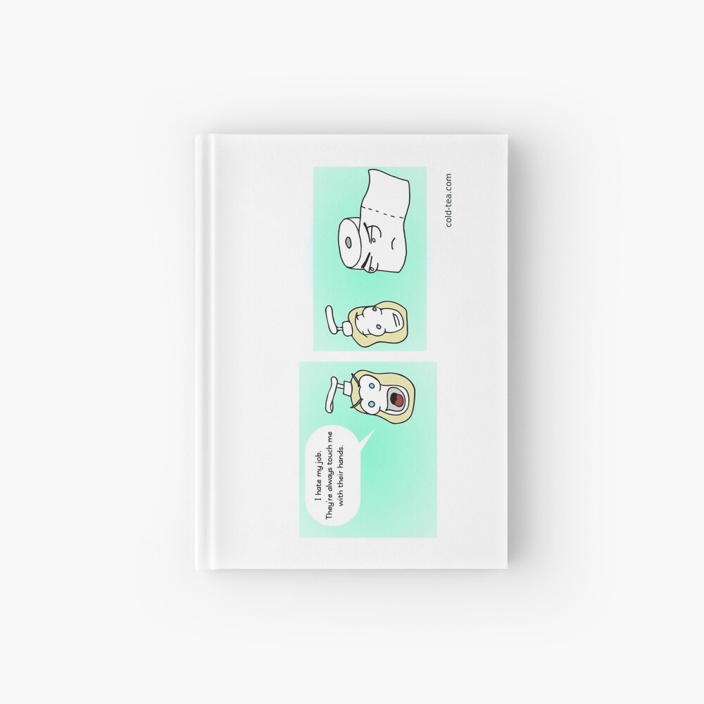 open mouth, insert foot Hardcover Journal
