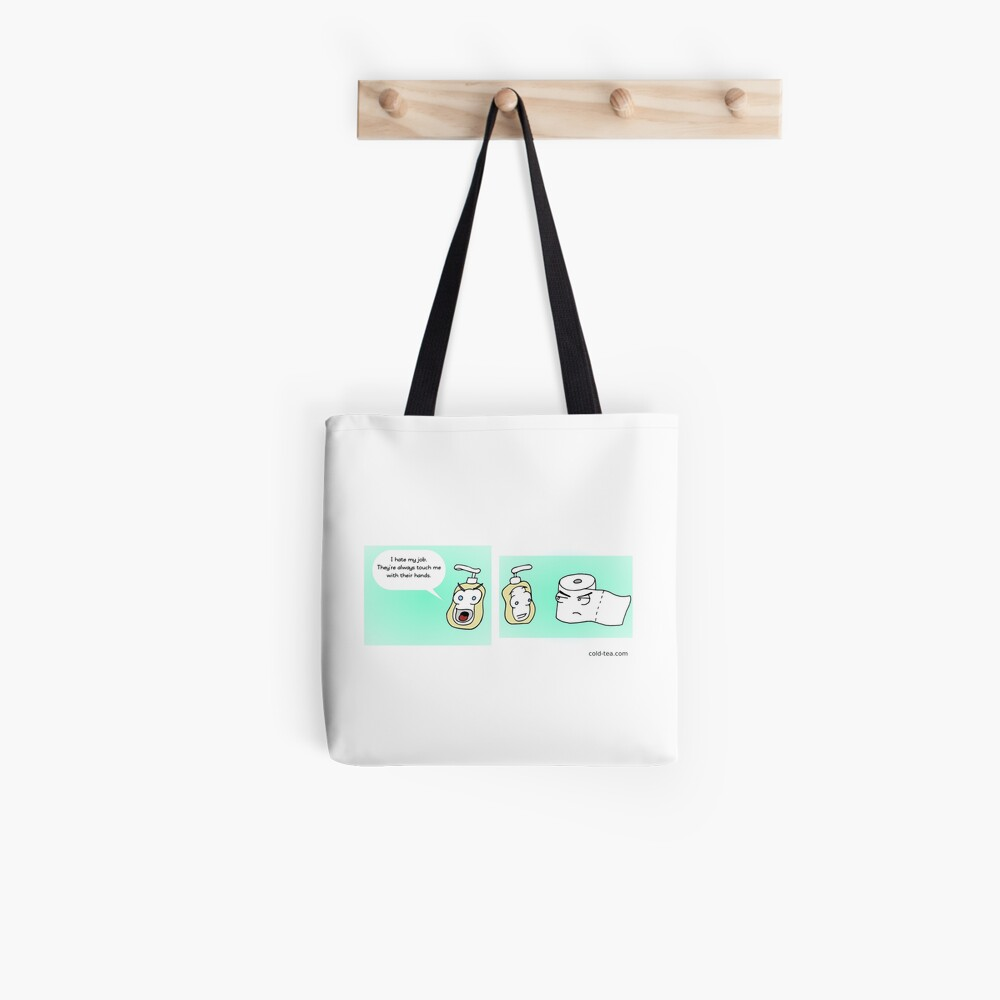 open mouth, insert foot Tote Bag