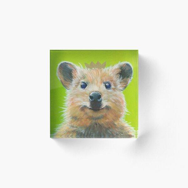 Quokka, Süßes Australisches Kurzschwanzkänguru zum Knuddeln Acrylblock
