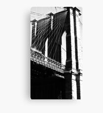 Monochrome Bridge Canvas Print
