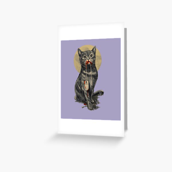 Cat the catch mouse Greeting Card
