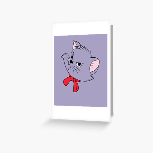 Berlioz Grumpy Face cat  Greeting Card