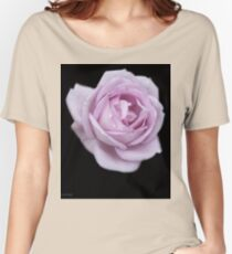 Lilic Rose on Black Velvet Women's Relaxed Fit T-Shirt