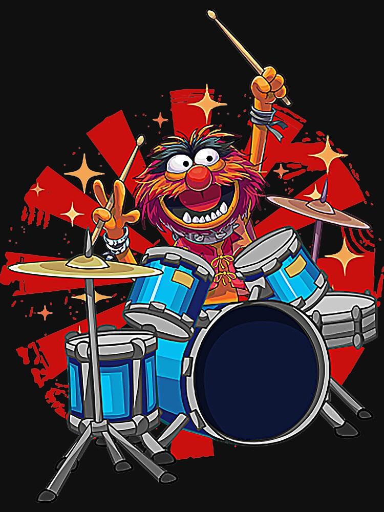 Animal Drummer The Muppets Show T-Shirt by porschemacan79