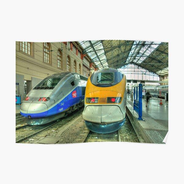 Marseille Trains of Grande Vitesse  Poster